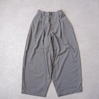 HARVESTY (ハーベスティ)/T/R WIDE EGG LONG PANTS /gray