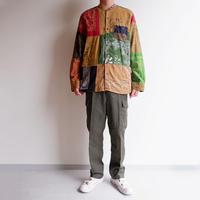 SLOW HANDS(スローハンズ)/Bandana pw standcollar shirts/size:M/sand