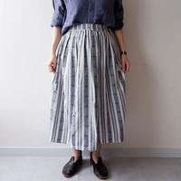 "SLOW HANDS(スローハンズ)/  ""Jugard Vertical  Gather Skirt"""