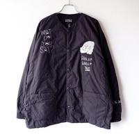 "TIGRE BROCANTE (ティグルブロカンテ)/""Do It 刺繍""Batting Short Rib Jacket/black×刺繍"