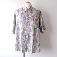 【FROM EURO】short-sleeve rayon print shirts/ES-5