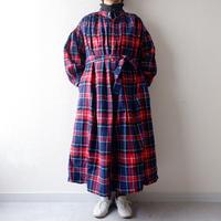 UNIVERSAL TISSU (ユニバーサルティシュ)/クラシックギャザーシャツドレス/navy check