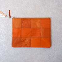 yes crafts/SQUARE POUCH-(L) / スクエア ポーチL/ camel-1