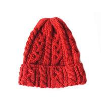 HIGHLAND2000(ハイランド2000) /British Wool 016 Cable Bobcap RED