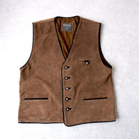 【オーストリアより】old Tyrolean vest /suède/used