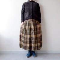 TIGRE BROCANTE (ティグルブロカンテ)/crew neck short cardigan/black