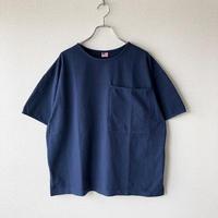 UNIVERSAL TISSU (ユニバーサルティシュ)/アメリカンコットン BIGポケットTシャツ/ネイビー