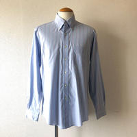 【FROM USA】 BROOKS BROTHERS/ shirt /used/sax×stripe/S-1