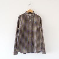 weac.(ウィーク)/パグちゃんシャツ  Yellow Check