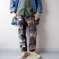 weac.(ウィーク)/relax easy pants/patchwork beige