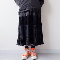 【USAより】black gather long skirt/USA古着