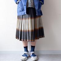 【USAより】wool pleats reversible skirt/USA古着/used
