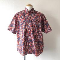 【夏シャツ】 weac.(ウィーク)/ FLORIST/Flower/red