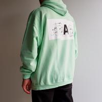 A .D .A.N(アダン)/ART-1 SWEAT PARKA by sinya / GREEN