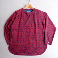 【TORTOISE別注】SLOW HANDS(スローハンズ)/1B プルオーバーシャツ/RED×NAVY-2
