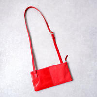yes crafts(イエスクラフツ)/SHOULDER BAG 2PIECE/栃木レザー/red