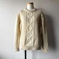 """【 FROM  EURO】fishermans sweater""""ladies size""""/natural/used/古着"""
