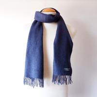 Burberrys (バーバリー)/ソリッドマフラー/ cashmere100% /Made In England/light navy