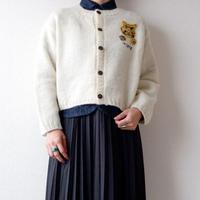 【ブサかわいい虎】TIGRE BROCANTE (ティグルブロカンテ)/crew neck wool cardigan/Tigre/虎