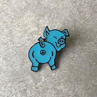 BRU NA BOINNE(ブルーナボイン) PPピンバッチ/ブルー