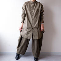 CAERULA (カエルラ)/50S broad back vents shirts /khaki