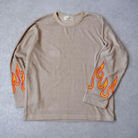 masterkey(マスターキー)/Fire /ロングスリーブTシャツ/beige