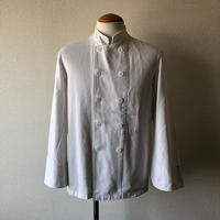 【FROM EURO】old French cock jacket/used/White
