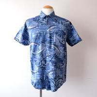 【FROM USA】short-sleeve fish print shirts/used/16
