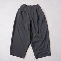 HARVESTY (ハーベスティ)/T/R WIDE EGG LONG PANTS/charcoal