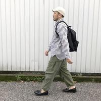 weac.(ウィーク)/ペルヴィアンピマベーシックシャツ BIG STRIPE ブラック/ホワイト