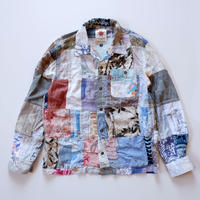 Nasngwam (ナスングワム) /remake aloha patchwork shirt/M