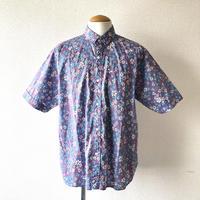 【夏シャツ】 weac.(ウィーク)/ FLORIST/Flower/purple