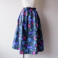 TIGRE BROCANTE( ティグルブロカンテ)/ハワイアンフラワー/コードポケットフィセルスカート/Blue