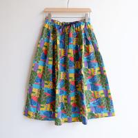 TIGRE BROCANTE( ティグルブロカンテ)/Mexico Grosgrain Pocket Ficelle skirt/Green