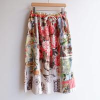 TIGRE BROCANTE( ティグルブロカンテ)/ヴィンテージクロスワンポケットスカート/natural