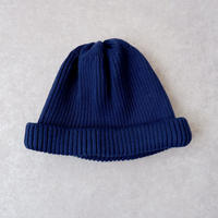 RoToTo(ロトト)/cotton rollup beanie /NAVY