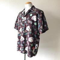 【FROM USA】トランプ柄プリントシャツ/used/S-4