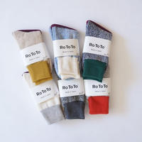 "RoToTo(ロトト)/ DOUBLE FACE SOCKS ""silk & cotton"""