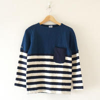 Tieasy(ティージー)/ HDCS ボートネック 切り替え バスクシャツ