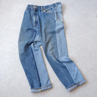 MADE  by Sunny side up(サニーサイドアップ)/ 2for1 remake denim//front×Blue/size4