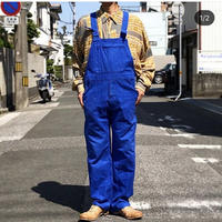 【FROM EURO】OLD EURO WORK OVERALL/W.Germany /blue/O-3