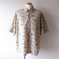 【FROM USA】short-sleeve fish print shirts/used/⑥