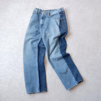 MADE by Sunny side up(サニーサイドアップ)/ 2for1 remake denim/front×Blue/size1
