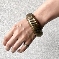 【FROM USA】used brass bangle /used/brass/GOLD