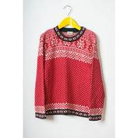 "vintage ""LLbean"" nordic patterned knit"