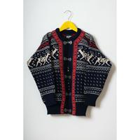 vintage  nordic patterned knit