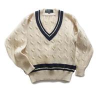 vintage lettered knit