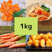 時短野菜のスチーム人参1kg【煮物用・サラダ用・和え物用】 税込