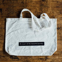 再販【message tote bag】Be a part of this beautiful journey. (black)