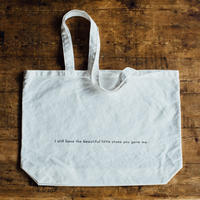 【B/message tote bag】I still have the beautiful little stone you gave me. (white)